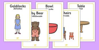 Goldilocks and the Three Bears Display Posters Polish Translation - polish, goldilocks and the three bears, display posters, goldilocks themed posters, goldilocks posters