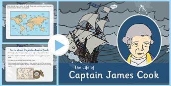 James Cook PowerPoint - james cook, powerpoint, captain, travel