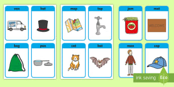 CVC Word Cards (a) - CVC 'a' Phoneme EYFS Matching Cards