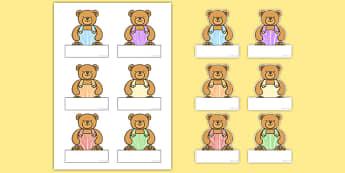 Bear Self Registration Labels - bear, self-registration, labels, display