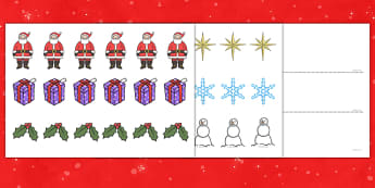 Aistear Christmas and The Post Office Wrapping Paper and Pattern Activity - roi, irish, gaeilge, Aistear, Post Office, Christmas, Pattern, Cutting, Sticking, Art and Craft Station