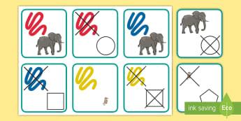 Tarjetas de dos atributos: Bloques lógicos - bloques, lógicos, logicos, dienes, material, manipulativo, matemáticas, mates, pensamiento, lógic
