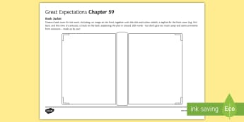 Great Expectations Chapter 59 - Book Jacket Activity Sheet - Book cover, Blurb, Reviews, Book template, Charles Dickens, worksheet