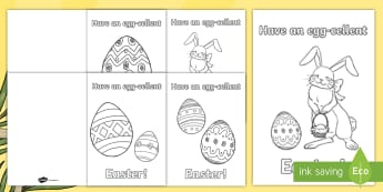 ROI Easter Greetings Colouring Gift Card Template - ROI Lent/Easter 2017,Irish