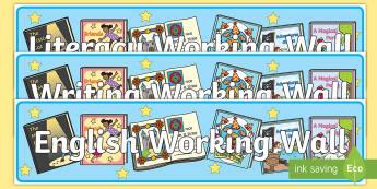 Year 1 English Working Wall Display Banner - title, literacy, y1, writing, KS1
