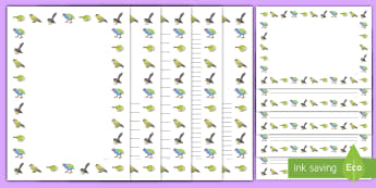 New Zealand Birds Page Border Pack - Aotearoa, native birds, extinct, Year 1-3, birds, fact file, page borders
