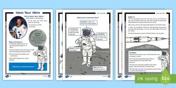 KS1 Edwin 'Buzz' Aldrin Fact File - English, Literacy, Moon, Buzz Aldrin, Neil Armstrong, Astronaut, Space, non-fiction