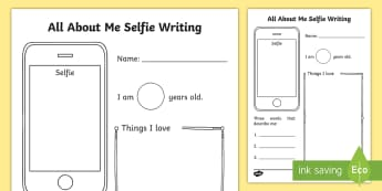 I Am Your New Teacher! All About Me Selfie Template - New Teacher Transition Activities