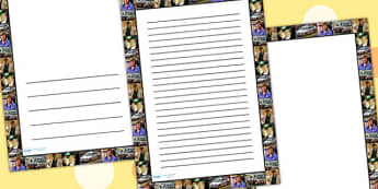 People Who Help Us Photo Page Borders - writing template, writing