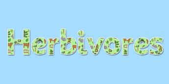 Herbivores Display Lettering - herbivore, display, lettering, science