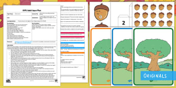 EYFS Little Acorns Are Falling Counting Activity Adult Input Plan and Resource Pack - Little Acorns, Twinkl Originals, Twinkl Fiction, story, books, reading, counting, number, Early Year