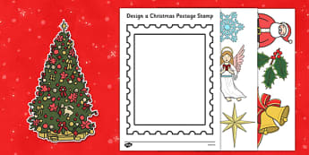 Design a Christmas Postage Stamp Activity - design, christmas, postage stamp, activity