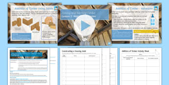 Manufacturing Processes and Techniques - Joining and Forming Timber: L3 Addition of Timber Lesson Pack - Joining and Forming Materials: Timber, joints, joins, tools, D&T, DT