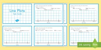 Line Plots Task Cards - Common Core, Second Grade, Measurement and Data, Line Plots