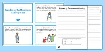 Garden of Gethsemane Activities - garden, gethsemane, activities, role play, newspaper report