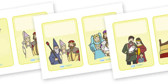 King Arthur Story (Plain - 2 per A4) - King Arthur, Knight, knights, merlin, story, sword, stone, round table, tale, traditional tale, legend, myth