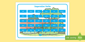 Imperative Verbs Word Mat - bossy verbs, imperative verbs, command words, parts of speech, instructions, instructional, writing