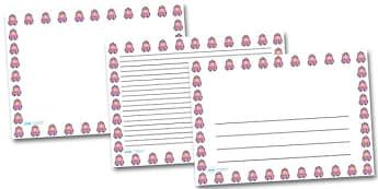 Rucksack Landscape Page Borders- Landscape Page Borders - Page border, border, writing template, writing aid, writing frame, a4 border, template, templates, landscape