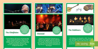 Traditional Irish Musicians and Groups Display Posters - ROI - St. Patrick's Day Resources, Ireland, irish music, trad, musicians, groups, culture, traditio