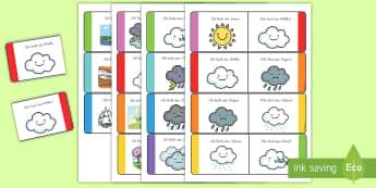 Wetter und Jahreszeiten Memory Karten - Weather Loop Cards - weather, loop cards, loop, cards, activity, waether, WHEATHER, wetaher, weaher,