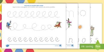 Roald Dahl Esercizi di controllo della matita Attività - Roald Dahl, esercizi, padronanza, controllo, della, matita, righe, favole, fiabe, libri, scrivere, l