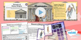 History: Romans: Gods and Goddesses LKS2 Lesson Pack 5