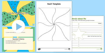 KS1 My Personality in Swirls Resource Pack - personality swirls, all about me, me in art, art and words, y1 and y2