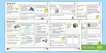 Year 4 Spring Term 2 SPaG Activity Mats - SPaG Activity Mats KS2, SPaG, GPS, spelling, punctuation, grammar, Y4, carousel, morning task, mat,