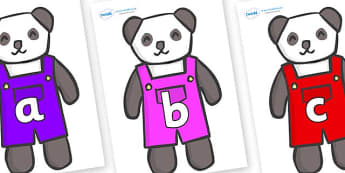 Phase 2 Phonemes on Panda Bears - Phonemes, phoneme, Phase 2, Phase two, Foundation, Literacy, Letters and Sounds, DfES, display