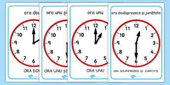 Citim ceasul la ora fixa și la și jumătate - Planșe