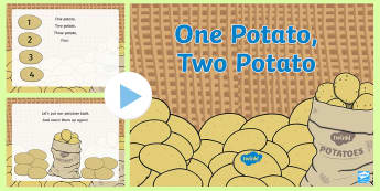 One Potato, Two Potato Song PowerPoint