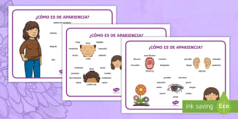 Tapiz de vocabulario: Describiendo a mamá - apariencia física - Día de la madre, mother's day in Spain, descripción, description, describe a mamá, describe your