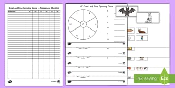 Onset and Rime Spinner Game - Onset, Rime, Word Families, Rhyming, Educational Game, Center Activity, Center Game, ELA, Kindergart