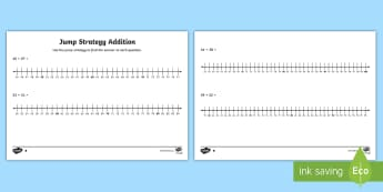 Differentiated Jump Strategy Addition Activity Sheets - Mathematics, Year 1, Number and Algebra, Number and place value, ACMNA015, ACMNA030, Year 2, Jump st