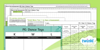 Twinkl Move - Year 2 Dance: Toys Assessment Pack - Key Stage 1, KS1, Year 2, Y2, PE, Physical Education, Sport, Exercise, Dance, Toys