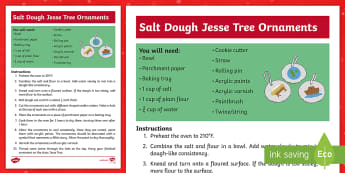 Salt Dough Jesse Tree Ornaments Craft Instructions - Christmas, Advent, Jesse Tree, Salt Dough, Christmas craft, Irish