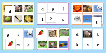 Phase 2 Letters with Matching Initial Sound Photograph Bingo - Phase 2 Letters with Matching Initial Sounds Photographs - sound, a-z, leters, lettes, grpahs, mathc