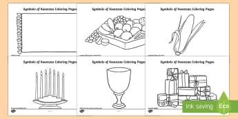 Symbols of Kwanzaa Coloring Pages - Kwanzaa coloring, Symbols of Kwanzaa