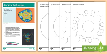 Indigenous Peoples Day Aboriginal Dot Painting Activity - indigenous peoples day, native americans, aboriginal art, dot painting, native peoples, first cultur