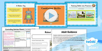 Computing: Controlling Devices Flowol: Combining Skills Year 5 Lesson Pack 6