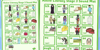 Active Literacy Stage 3 Sound Mat - literacy, stage 3, sound, mat