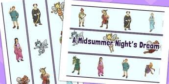 A Midsummer Nights Dream Display Borders - shakespeare, display