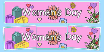 Women's Day Display Banner - womens day, display banner, display, banner, womens history month, women