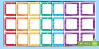 Multicolour Square Peg Labels - multicolour, square, drawer, name, peg, labels, display