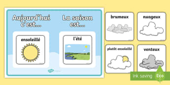 Le temps et les saisons Poster A2 - Poster - le temps et les saisons, le temps, les saisons, temps, saisons, display, décorations, déc