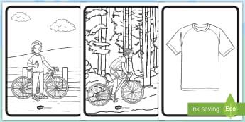 Feuilles de coloriage : Le Tour de France - Arts plastiques, Arts, cycle 1, cycle 2, vélo, cyclisme, Art, bike,French