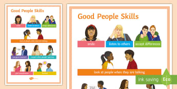 Good People Skills Display Poster  - Good people skills, Poster, behaviour, polite, manners