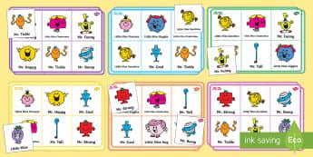 Mr. Men and Little Miss Bingo - Roger Hargreaves, Mr. Strong, Little Miss Sunshine, Mr. Bump, Little Miss Chatterbox, Mr. Tickle, Mr