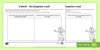Tír na nÓg   Drawing the forgotten land of Ireland Activity Sheet - ROI Tír na nÓg resources, History, Myths and legends, Ireland, Oisín, Niamh, Fionn, Na Fianna,Iri