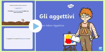 Gli Aggettivi Presentazione Powerpoint - gli, aggettivi, grammatica, grammaticale, presentazione, powerpoint, italiano, italian